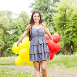 Attractive Happy Beautiful Carefree Young Woman Stock Image