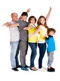 Attractive, happy caucasian american family Royalty Free Stock Image