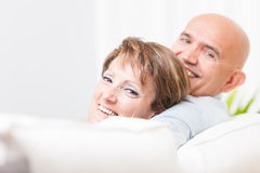 Attractive happy friendly middle-aged couple Royalty Free Stock Photo