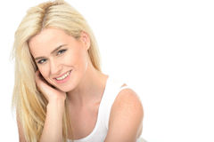 Attractive Happy Natural Young Woman Looking Relaxed and Smiling Stock Images
