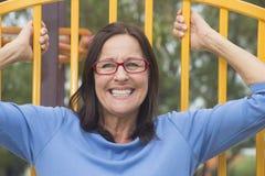 Attractive Happy smiling senior woman Stock Photo