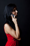 Attractive happy woman calling by mobile Royalty Free Stock Photo