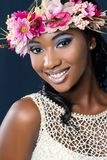 Attractive happy young african bride. Royalty Free Stock Photo