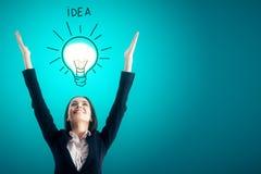 Idea and success concept stock photo