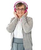 attractive headphones lady old wearing Стоковые Фотографии RF