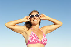 Attractive healthy sporty mature woman Royalty Free Stock Photography