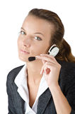 Attractive helpdesk operator Stock Photo
