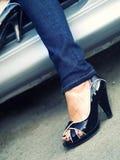 Attractive high heels Stock Images