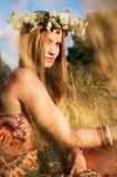 Attractive hippie girl Royalty Free Stock Photos
