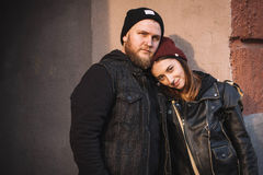 Attractive hipster couple Royalty Free Stock Photo