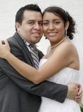 Attractive Hispanic Bride and Groom Royalty Free Stock Image