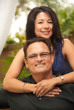 Attractive Hispanic and Caucasian Couple. Happy Attractive Hispanic and Caucasian Couple Portrait Royalty Free Stock Image