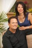 Attractive Hispanic and Caucasian Couple. Happy Attractive Hispanic and Caucasian Couple Portrait Stock Photo