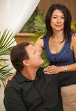 Attractive Hispanic and Caucasian Couple Stock Images