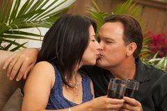 Attractive Hispanic and Caucasian Couple Stock Photos