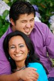 Attractive Hispanic Couple. Embracing each other Stock Photo