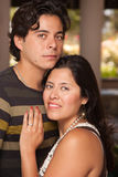 Attractive Hispanic Couple Portrait Outdoors Royalty Free Stock Photos