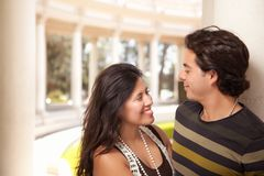 Attractive Hispanic Couple Portrait Outdoors Royalty Free Stock Image
