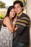 Attractive Hispanic Couple Portrait Outdoors. Attractive Hispanic Couple Portrait Enjoying Each Other Outdoors Royalty Free Stock Photography