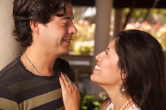 Attractive Hispanic Couple Portrait Outdoors Stock Photos