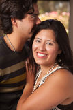 Attractive Hispanic Couple Portrait Outdoors. Attractive Hispanic Couple Portrait Enjoying Each Other Outdoors Royalty Free Stock Image