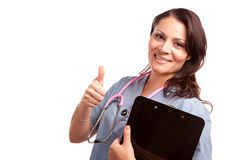 Attractive Hispanic Doctor or Nurse Stock Photography