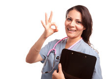 Attractive Hispanic Doctor or Nurse Stock Images