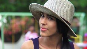 Attractive hispanic female stock footage