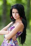 Attractive hispanic girl in the forest Royalty Free Stock Photography
