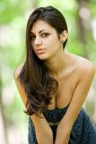 Attractive hispanic girl in the forest Royalty Free Stock Photos