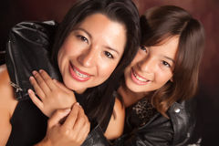 Attractive Hispanic Mother & Daughter Royalty Free Stock Images
