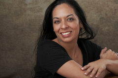 Causal Portrait Smiling Woman Royalty Free Stock Image