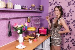 Attractive housewife Royalty Free Stock Photos