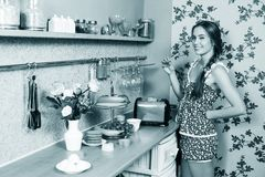 Attractive housewife Royalty Free Stock Images
