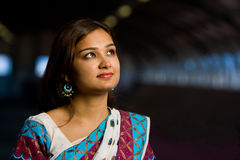 Attractive indian lady in traditional costume Stock Photography