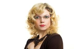 Attractive intelligent woman Stock Photos