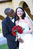 Attractive Interracial Wedding Couple Stock Photo