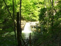 Waterfall travelling wandering wayfaring vision royalty free stock photo