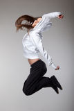 Attractive jumping woman Stock Image