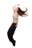 Attractive jumping woman Stock Photos