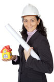 Attractive lady architect Royalty Free Stock Photos