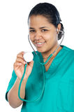 Attractive lady doctor Stock Image