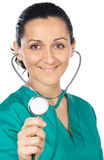 Attractive lady doctor  (focus in the face) Stock Photo