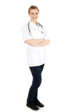 Attractive lady doctor with folded arms Royalty Free Stock Photo