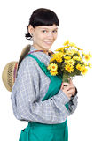 Attractive lady gardener Stock Photos