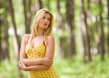 Attractive lady outdoor Stock Photo