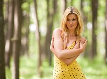 Attractive lady outdoor Stock Images