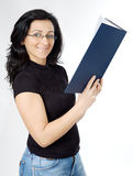 Attractive lady reading a book Royalty Free Stock Photo