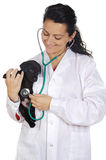 Attractive lady veterinarian Stock Photos