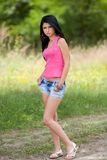 Attractive latin girl posing outdoor Royalty Free Stock Photography